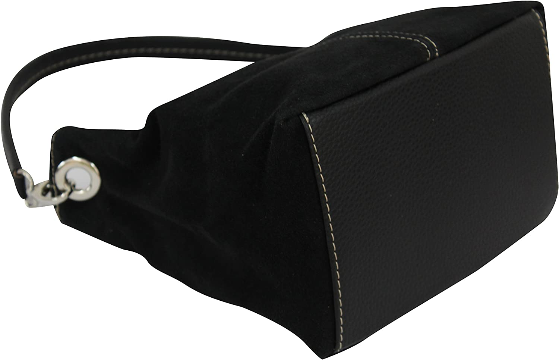 AmbraModa Sac /à main femme en daim v/éritable Mod/èle WL807 sac port/é /épaule