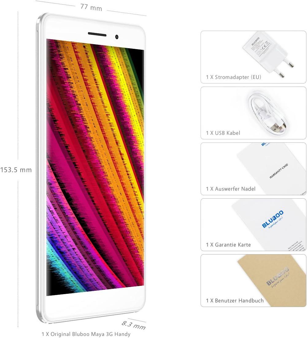 BLUBOO® Maya 3G Smartphone Android 6.0 5.5 inch HD Pantalla MTK6580A Ocho Núcleos 1.3GHz, 2GB RAM+16GB ROM, Gravity Sensor A-GPS, 13MP Cámara Trasera [Gris]: Amazon.es: Electrónica