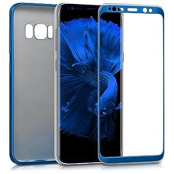 kwmobile Funda para Samsung Galaxy S8 - Carcasa Doble de TPU - Case de ambas Caras para móvil en Azul Metalizado
