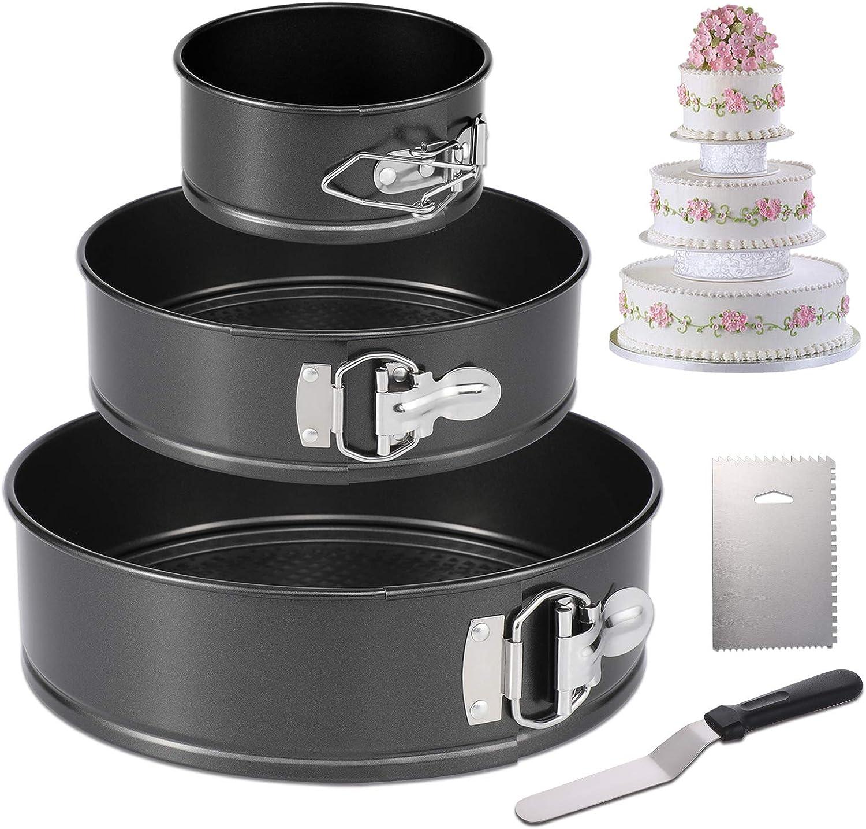 NON STICK SPRINGFORM CAKE TINS SET OF 3// FLORAL POP UP FOOD COVERS SET OF 3