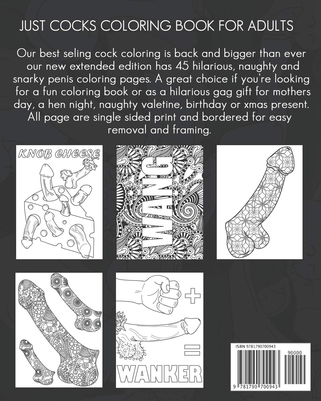 Amazon com just cocks coloring book for adults funny and naughty penis coloring book containing 45 pages filled with paisley henna and mandala patterns