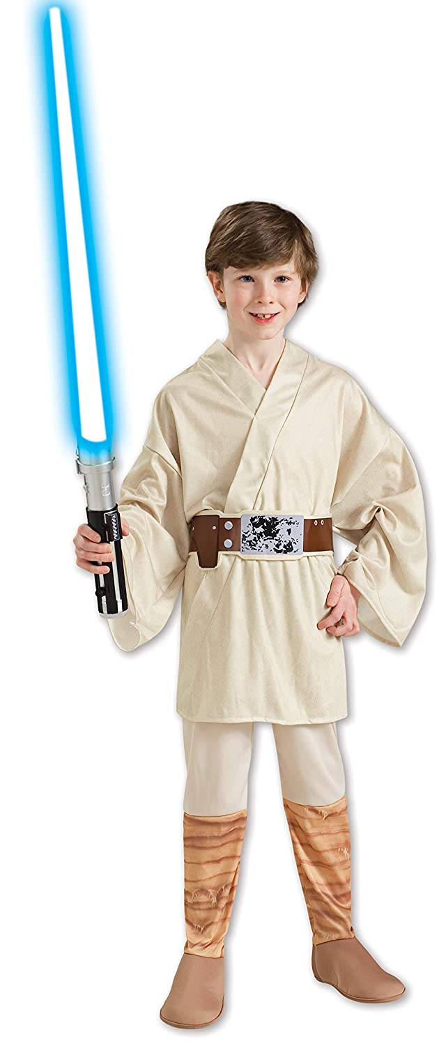 d0781bfac7dd Amazon.com  Star Wars Classic Luke Skywalker Child Costume Size  Medium (US  sizes 8-10, For 5-7 years)  Toys   Games