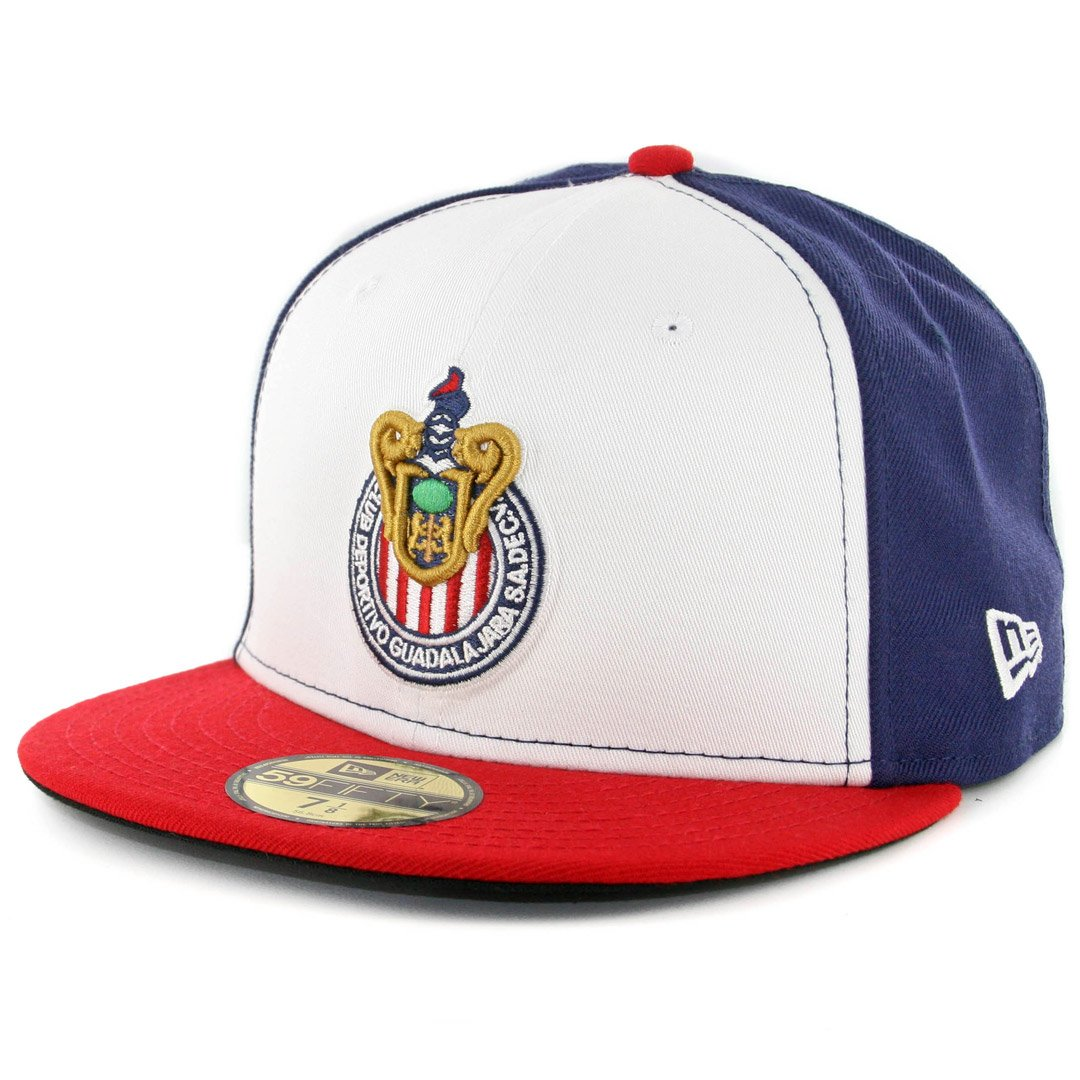 Amazon.com  New Era 59Fifty Hat Chivas De Guadalajara Soccer Official Team  White Blue Red Cap  Clothing b85058d8b460