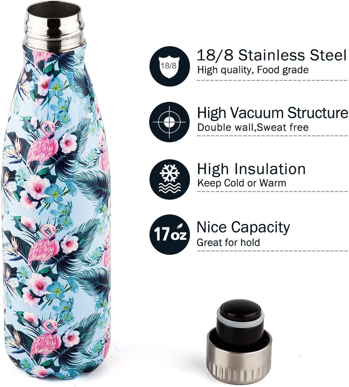 Elegant 17oz Cute Lovely Flamingo Milk Style Plastic Water Drink Bottles