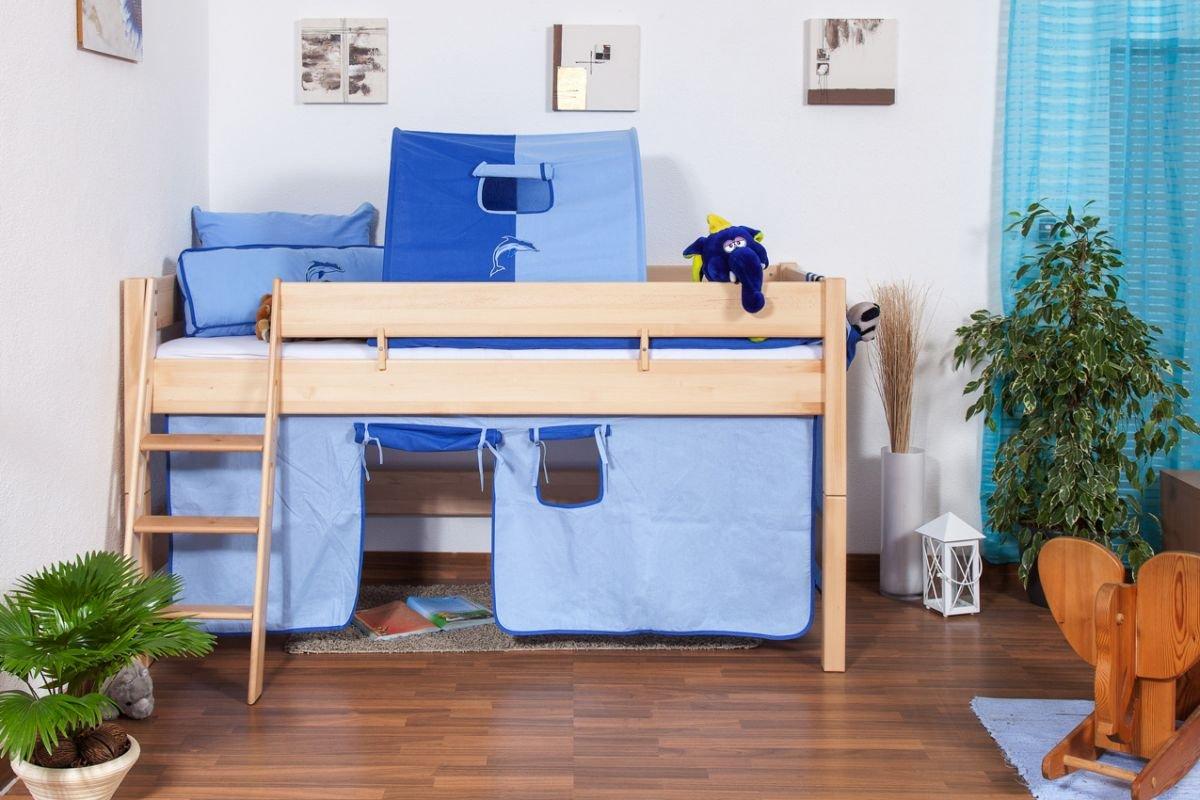 Hochbett Für Kinder Buche Massivholz 90x200 Cm   Inkl. Rollrost: Amazon.de:  Baumarkt