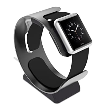 Spinido® Reloj Soporte de aluminio, iWatch Soporte Escritorio para Apple Watch y Otro Relojes