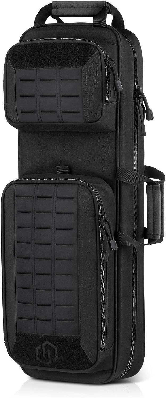 Savior Equipment Urban Takedown Bag Carbine Rifle Backpack Survival Gun Shotgun Firearm Transportation Case Sling Pack - Additional Storage, Deluxe Carrying Handle with Shoulder Straps Included
