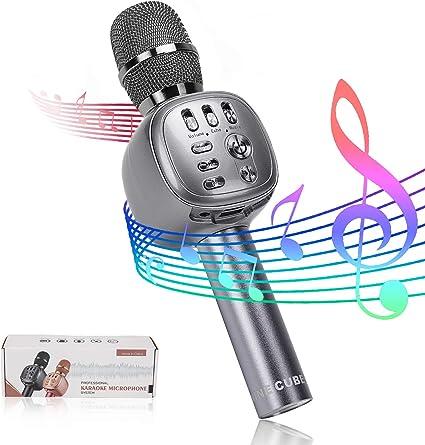 MI-Mic Karaoke Microfono Altoparlante con Bluetooth e Luce LED Vari Colori