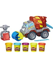 Play-Doh Max The Cement Mixer Toy Construction Truck with 5 Non-Toxic Colors, 2-Ounce Cans (Amazon Exclusive)
