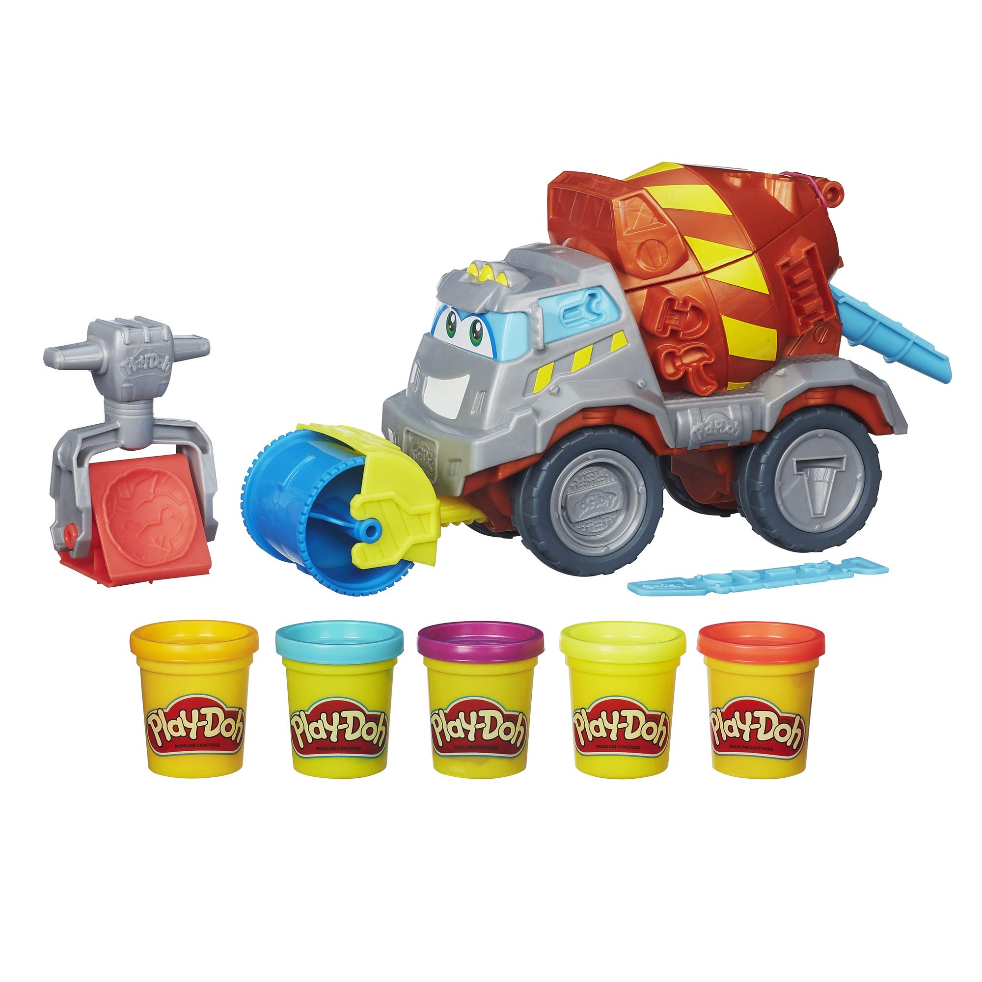 Play-Doh Max The Cement Mixer Toy Construction Truck with 5 Non-Toxic Colors, 2-Ounce Cans (Amazon Exclusive) by Play-Doh