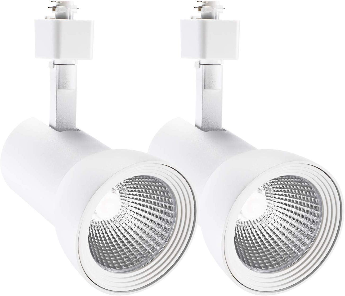 5 Years Warranty H Type Spotlight 1400lm Dimmable CRI90+ White for Wall Exhibition Lighting Energy Star /& ETL Listed LEONLITE 18W Aluminum LED Track Lighting Heads Pack of 4 3000K Warm White