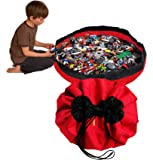 Swoop Bags Toy Storage Bag + Playmat RED - Ideal for organizing and Cleaning up Legos!