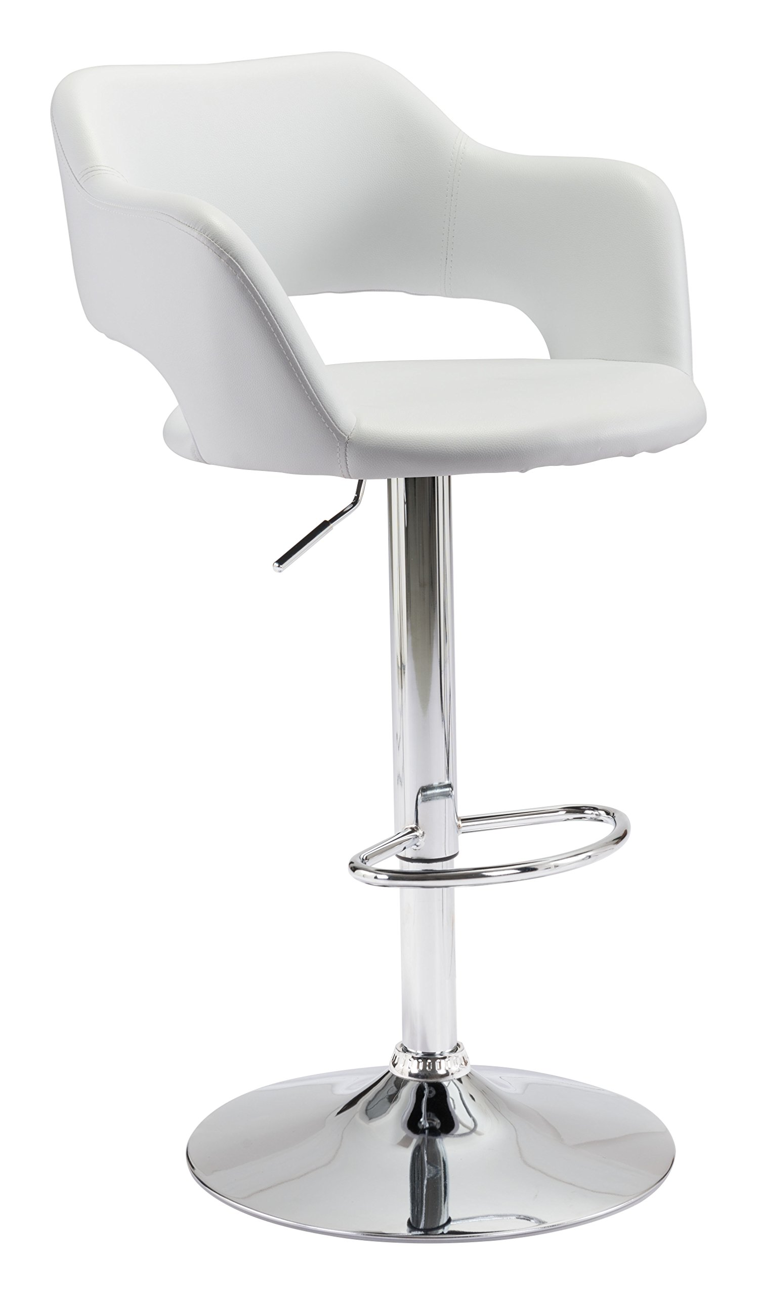 Hysteria Adjustable Stool in White