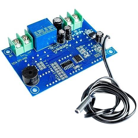 TOOGOO DC12V Termostato digital Control de temperatura inteligente -9 a 99 Celsius Controlador de temperatura