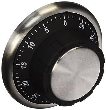 ExcelSteel Cook Pro #262 Magnetic Vault Kitchen Timer, Silver