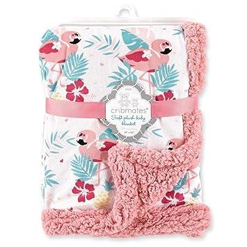 Amazon.com: Manta de felpa suave de flamenco rosa para bebé ...