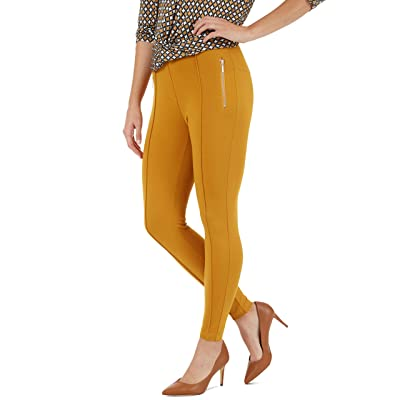 89th + Madison Zipper Trim Tapered Leg Ponte Knit Pants at Women's Clothing store