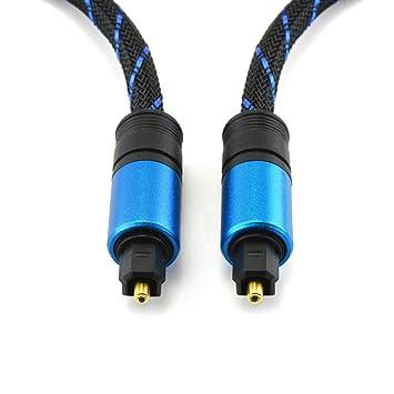 TechImport - Cable óptico Toslink (1,5 m, conectores enchapados en