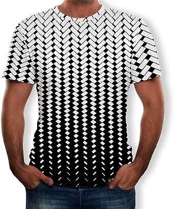 Camisetas Basicas Hombre Camisetas de Manga Corta Impresa 3D para ...