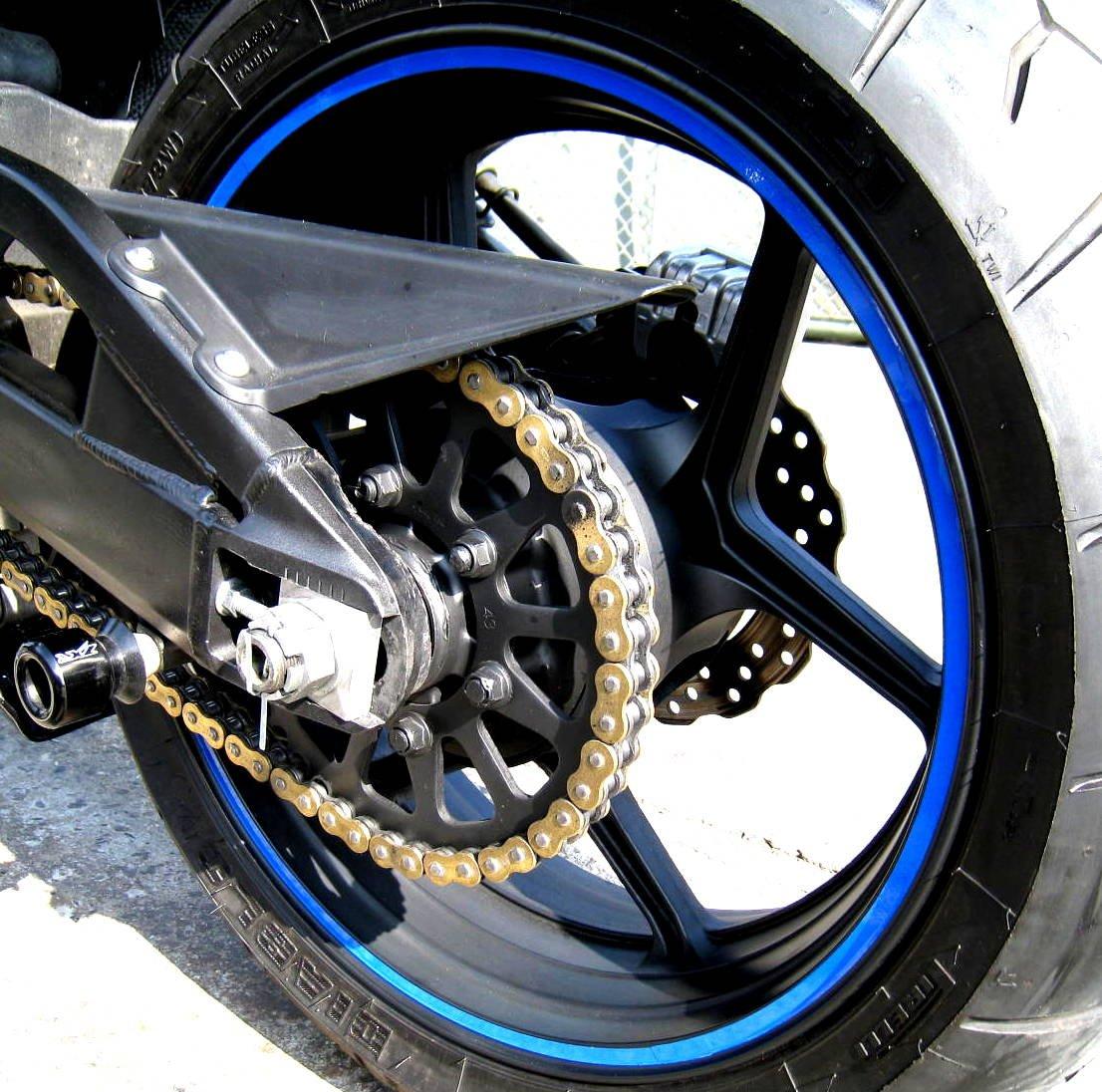 Amazon com blue reflective wheel rim stripe decal tape for motorcycle wheels 17 or car wheels 16 18 automotive