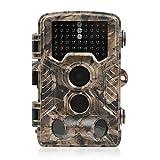 [Versione Aggiornata] Distianert 16MP 1080P HD Fotocamera Caccia Macchine Fotografiche da Caccia a Infrarossi Scouting Camera Intervallo di Rilevamento 25m Visione Notturna 20m Impermeabile IP56