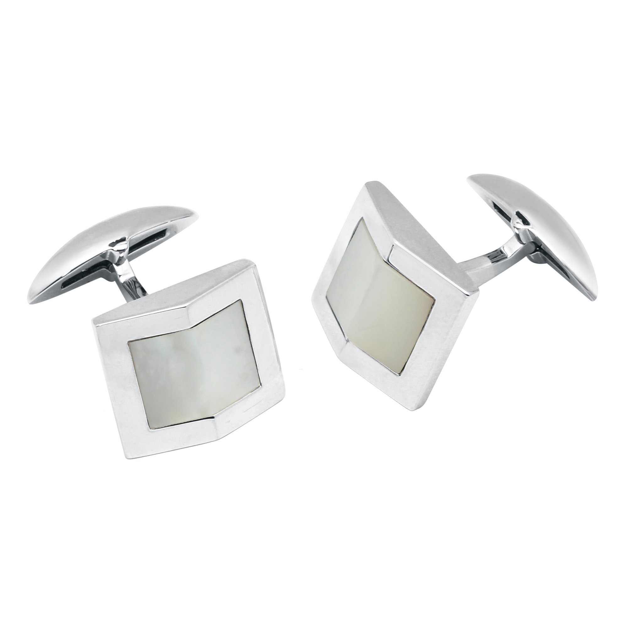 Zsamuel Mens Sterling Silver Mother of Pearl Gable Design Cufflinks by Z.Samuel