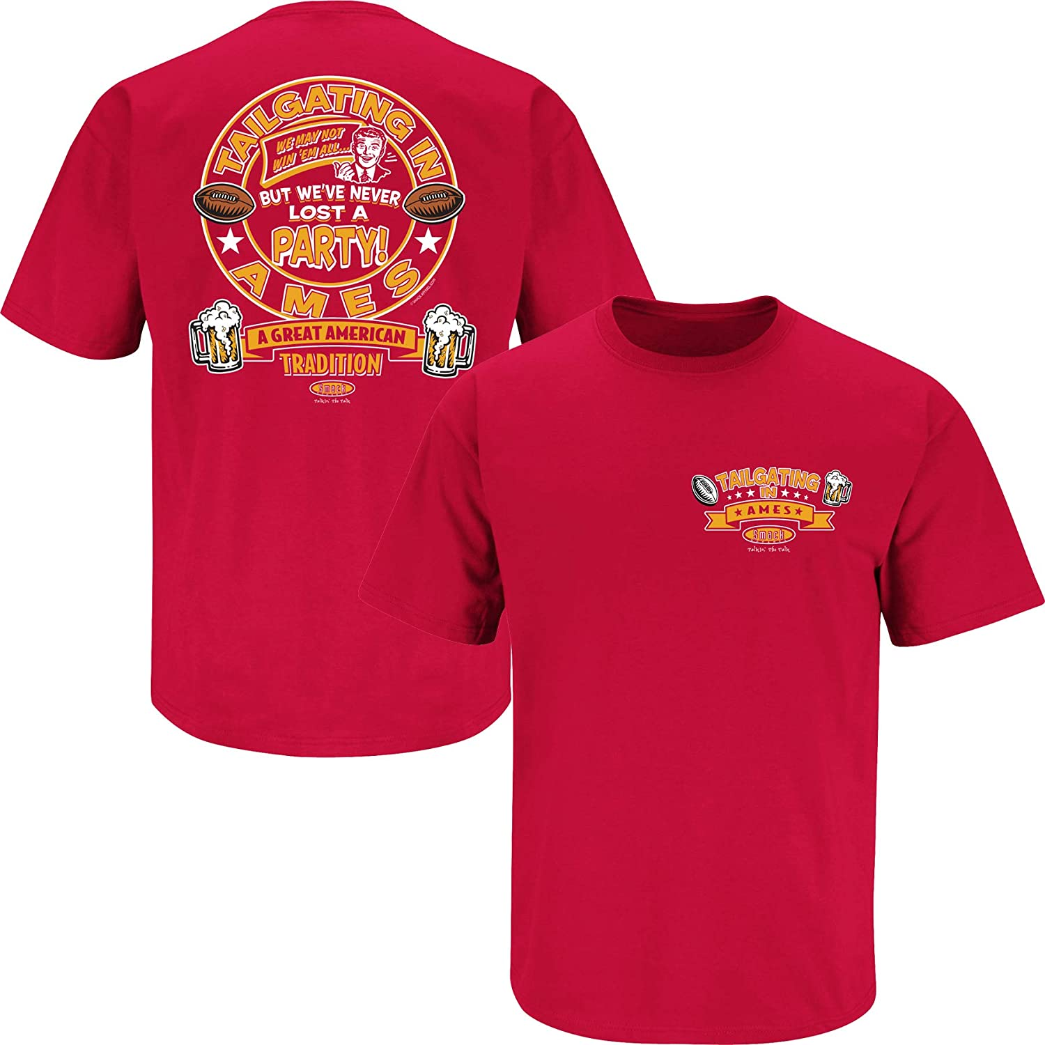 Tailgating in Ames Red T-Shirt Smack Apparel Iowa State Football Fans Sm-5X