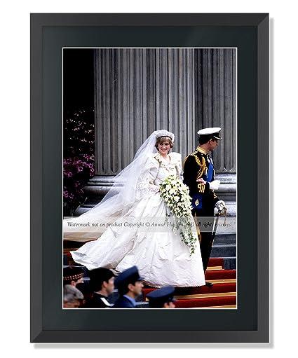 Trh Príncipe y princesa de Gales muy raro grande con marco Fine Art ...