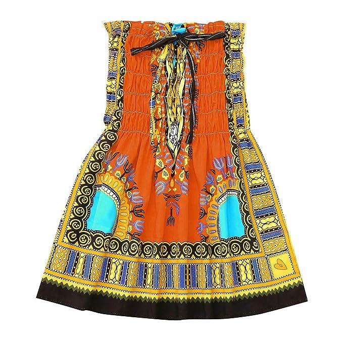 Amazon.com: Rolayllove❤️ Falda sin espalda con estampado ...