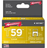 Arrow Fastener 591189SS Genuine T59 Stainless 5/16-Inch by 5/16-Inch Staples, Clear, 300-Pack