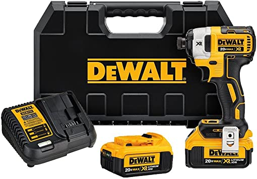DEWALT 20V MAX XR Impact Driver Kit, Brushless, 3-Speed, 1/4-Inch ...