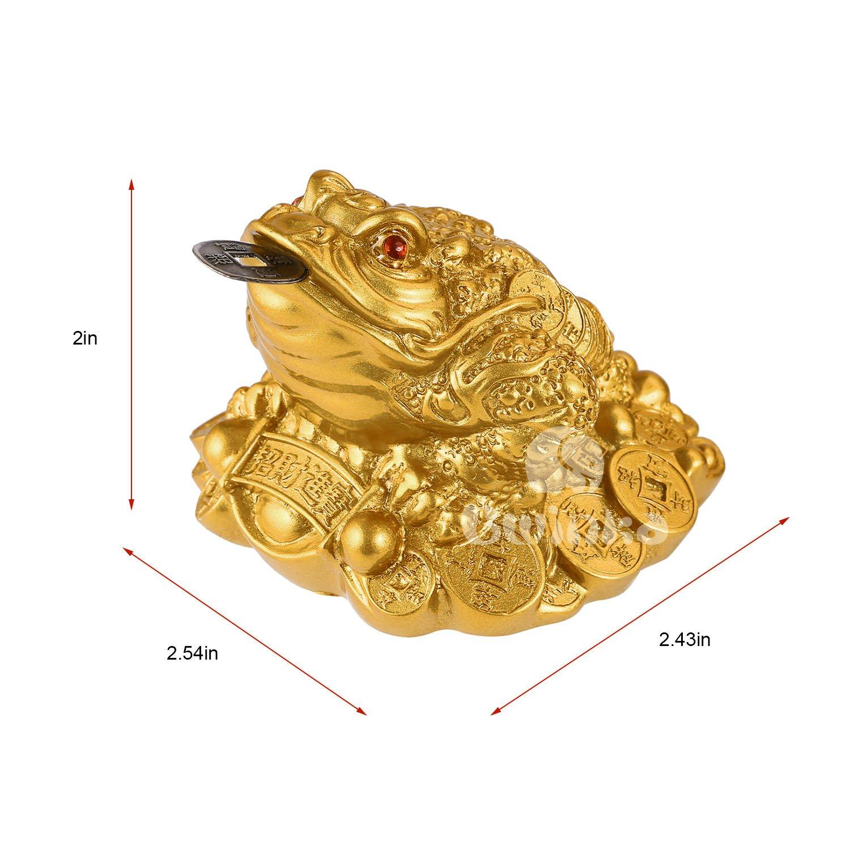 Kleine Chinesisches 3-Beine Reichtum Geldkröte Geldfrosch Glücksbringer