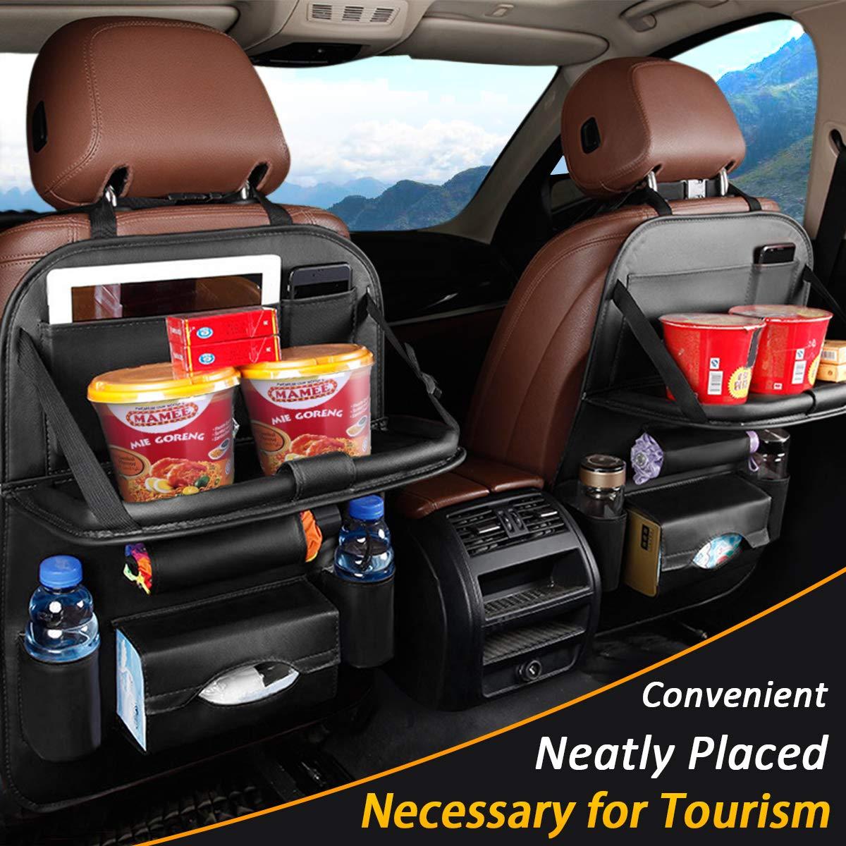 Organizer Storage iPad Kick Back Mat Kid Cup Bag Multi-pocket Car Seat Protector