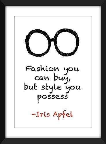 Amazon Com Iris Apfel Fashion You Can Buy Quote Unframed Print