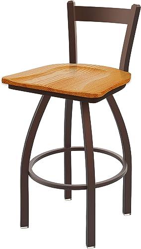 Holland Bar Stool Co. 821 Catalina Low Back Swivel Bar Stool, Medium Oak
