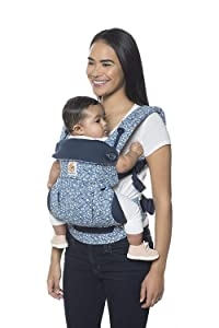 Ergobaby 360 All Carry Positions Award-Winning Ergonomic Baby Carrier, Azure Blue