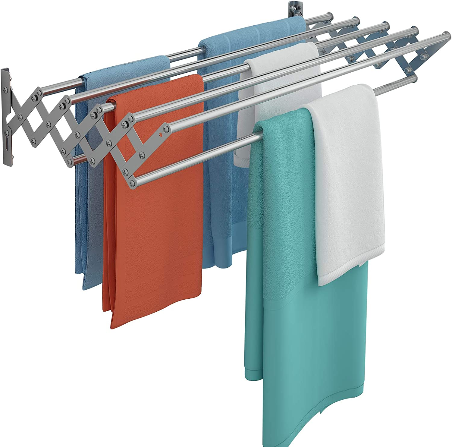 Indianapolis Mall Qurutma Max 42% OFF Wall Mounted Clothes Drying Rack Accordi Steel Stainless