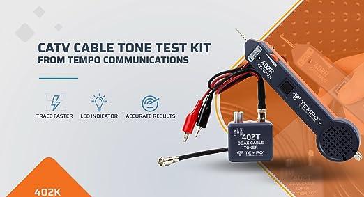 Tempo Communications 402K CATV Cable Tone Test Kit Latest Model