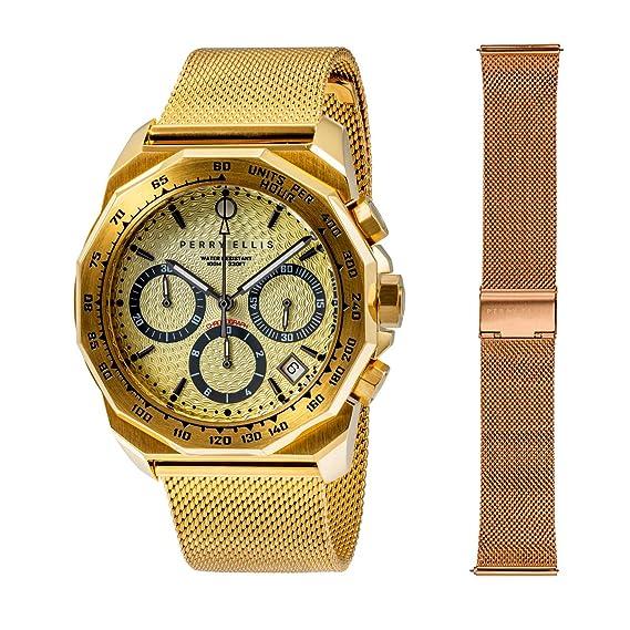 Perry Ellis 09004-04#MB106 - Reloj analógico de Cuarzo para ...