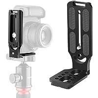 Neewer L Shape Bracket Vertical QR Plate Universal DSLR Camera L Bracket with 1/4 Inch Screw Arca Swiss Compatible with DJI Osmo Ronin Zhiyun Nikon Canon Sony DSLR Camera