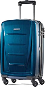 Samsonite Winfield 2 Hardside Luggage with Spinner Wheels, Deep Blue, Carry-On