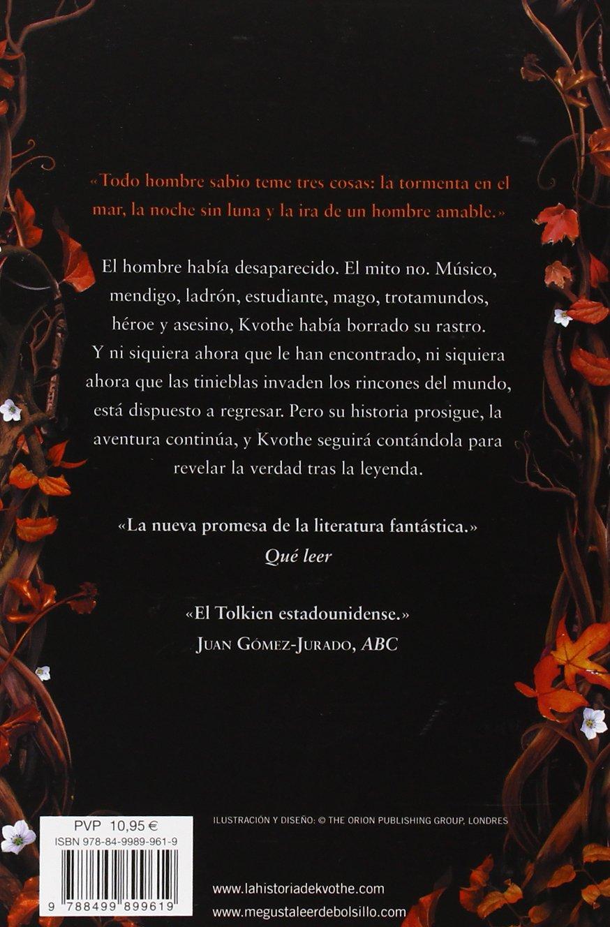 El temor de un hombre sabio Crónica del asesino de reyes 2: Amazon.es:  Patrick Rothfuss, Gemma Rovira Ortega;: Libros