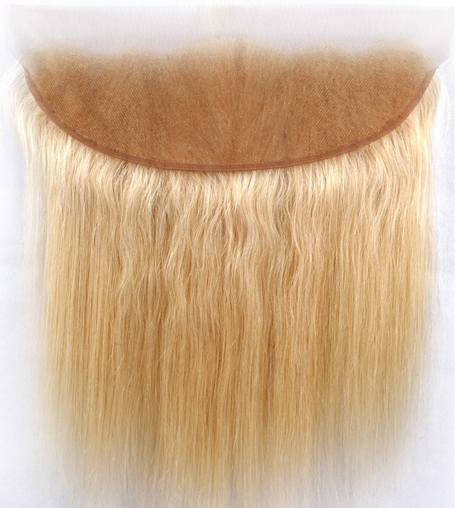 Sent Hair 8A 613 Blonde Frontal Lace Closure with Baby Hair Straight Human Hair Frontal Ear to Ear Closure 13x4 18 inch