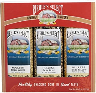 """product image for Riehle's Select Popping Corn 3-Pack """"Hulless"""" Gourmet Popcorn"""
