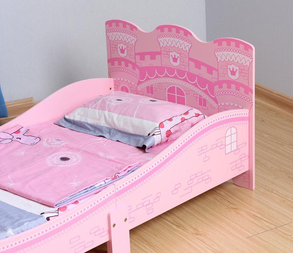 cama princesa Rosa Mcc/® Cama del ni/ñito de los ni/ños en forma de castillo