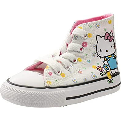 Details about CONVERSE UK 1 EU 33 CTAS HELLO KITTY CANVAS LO TRAINERS GIRLS CHILDRENS