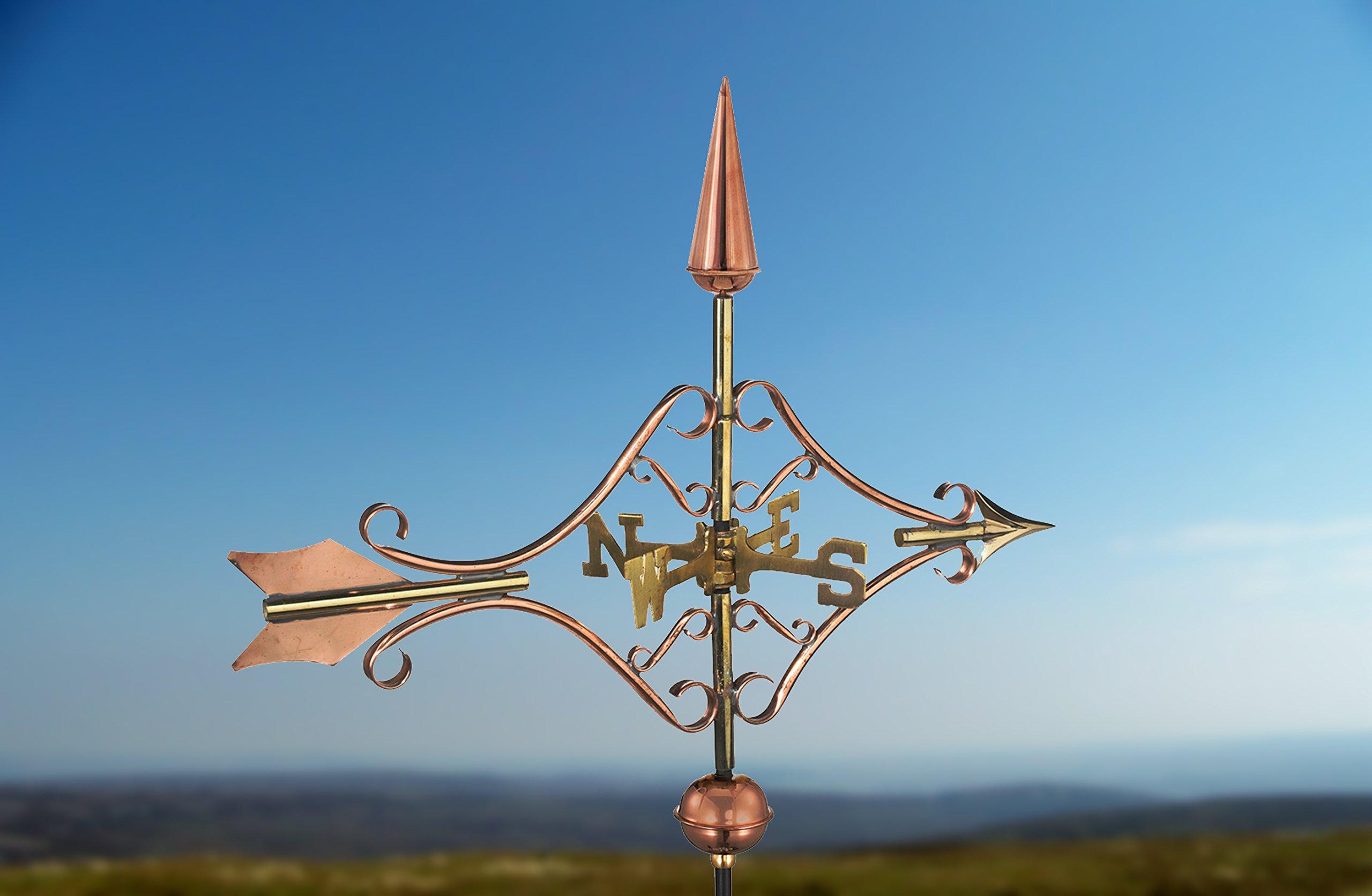 Good Directions Victorian Arrow Garden Weathervane with Garden Pole, Pure Copper