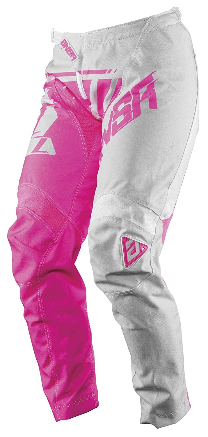 Grey//Pink Answer Racing A18 Syncron Womens Off-Road Motorcycle Pants Size 14