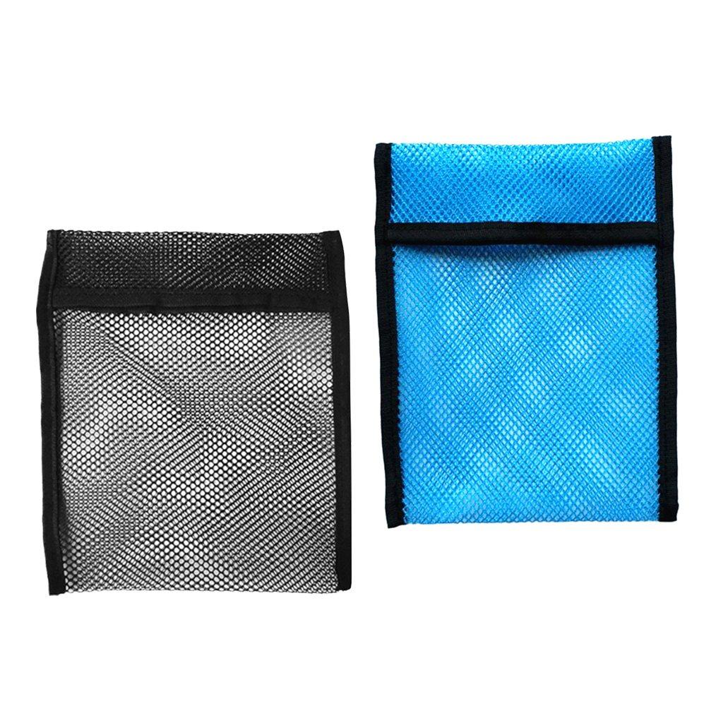 MagiDeal 2 Pezzi Vuoto Sacche da Immersioni Snorkeling Peso Pocket Mesh Shot Pouch Bag Ideale per Imbracature di Peso, Custodia per Cinture