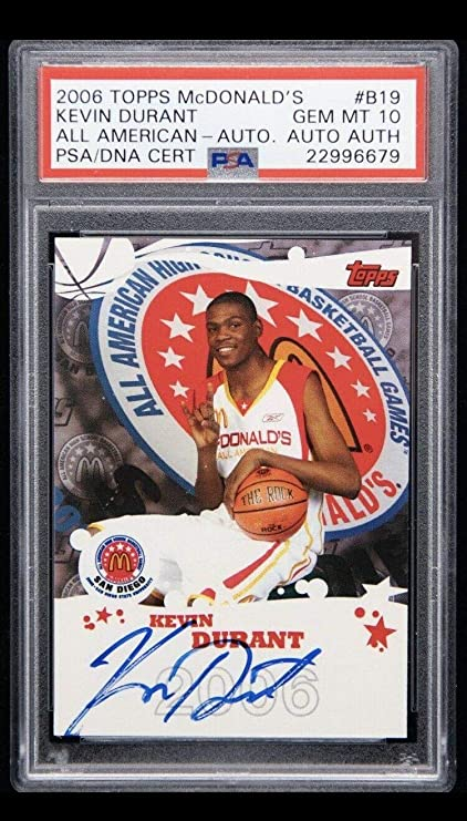 cadd0d048 2006-07 Topps McDonald s All American Kevin Durant RC AUTO 10 POP 2 - PSA